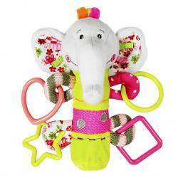 Фото Мягкая погремушка с пищалкой Слонёнок Тим (93568)