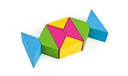 Цветные треугольники (дерево, Томик) фотография 4