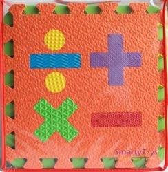 Мягкий коврик-пазл Цифры и фигуры (12 шт) (MТP-31012) фотография 3