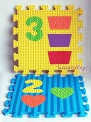 Мягкий коврик-пазл Цифры и фигуры (12 шт) (MТP-31012) фотография 4