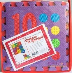Мягкий коврик-пазл Цифры и фигуры (10 шт) (MТP-31010) фотография 2