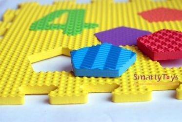 Мягкий коврик-пазл Цифры и фигуры (10 шт) (MТP-31010) фотография 5