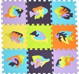 Фото Мягкий коврик-пазл Мозаика с рыбами (MТP-33109)
