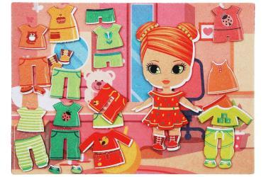 Фото Игры из фетра на липучках Одежда для девочки (с игровым полем)