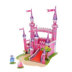 Фото 3D пазл из пенокартона Розовый замок 29 деталей (589-F)