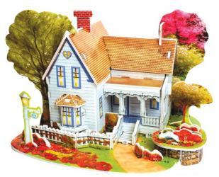 3D пазл из пенокартона Романтический дом мини-серия 30 деталей (689-B) фотография 1