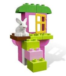 4623 Розовая коробка с кубиками Lego DUPLO(конструктор Lego Duplo) фотография 3