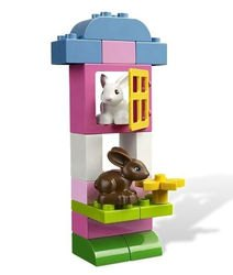 4623 Розовая коробка с кубиками Lego DUPLO(конструктор Lego Duplo) фотография 5