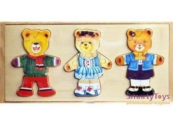 Три медведя (набор с одеждой - пазлы) Р55 фотография 1