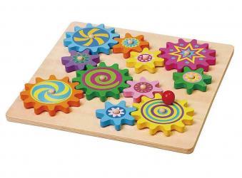 Фото Развивающая деревянная игрушка Вращающиеся шестеренки (59854)