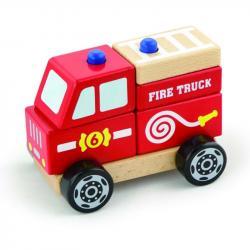 Фото Пирамидка деревяннаяПожарная машина (50203)