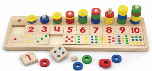 Фото Развивающая игра деревянная Разложи по номерам (59072)