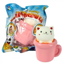 Фото Игрушка-антистресс мммняшка squishy (сквиши) Кошка в чашке