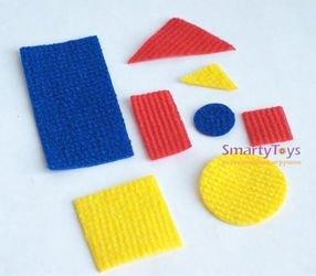 Набор из ковролина Блоки Дьенеша с ковриком фотография 4