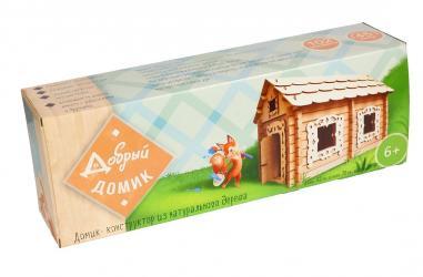Фото Конструктор из бревнышек деревянный Добрый домик (7970)