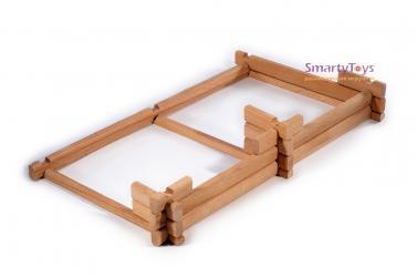 Конструктор из бревнышек деревянный Добрый домик (7970) фотография 4