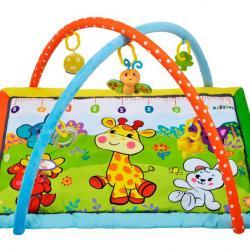 Фото Мягкий развивающий коврик для малышей Жирафик и друзья с ростомером