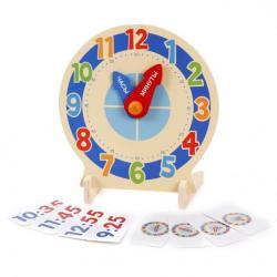 """Фото Деревянные игрушечные часы для детей с карточками """"Изучаем время (76661)"""