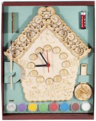 Фото Часы с маятником под роспись Избушка (8034)