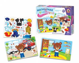 Развивающая игра на магнитах Мишка и его профессии фотография 2