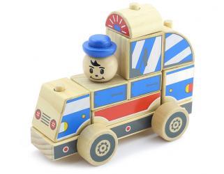 Фото Деревянная развивающая игрушка Автомобиль-конструктор 1 (Д059)