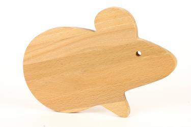 Фото Доска деревянная разделочная Мышь