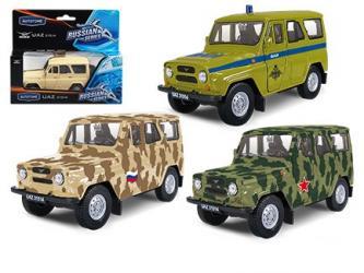 Фото Масштабная модель УАЗ-31514 военная в ассортименте (65211)