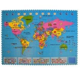 Мягкий коврик-пазл карта Страны и флаги (MТP-30334) фотография 2