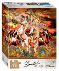 Фото Пазл Найди 16 лошадей, 1000 элементов, серия Limited Edition (79802)