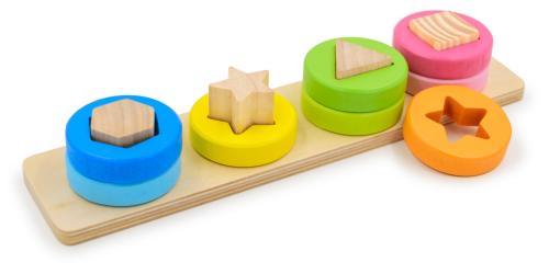 Фото Деревянная развивающая игрушка сортировщик Формы и цвета №2 (Д013а)