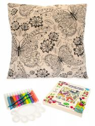 Фото Чехол для подушки под роспись Бабочки в цветах (476042)