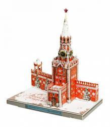 Фото Сборная модель из картона Спасская Башня Московского Кремля Новогодняя Москва в миниатюре (487-2)