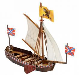 Фото Сборная модель из картона Ботик Петра I (442)