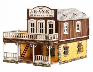 Фото Сборная модель из картона Дикий запад Банк (469)