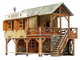Фото Сборная модель из картона Дикий запад Дом шерифа (478)
