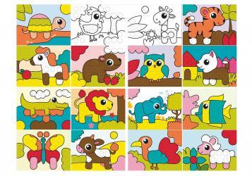 Мозаика для малышей Моя первая мозаика Животные в чемоданчике фотография 5