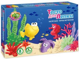 """Фото Тесто для лепки """"Море"""" в коробке 8 цветов, 200 гр (П104)"""