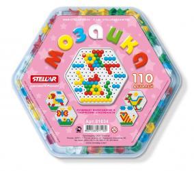 Фото Детская мозаика Шестигранная диаметр 13 мм, 110 деталей (01034)