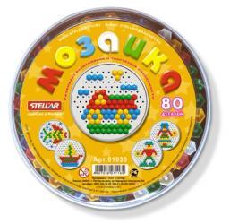 Фото Мозаика для детей круглая 80 деталей, 13 мм (01033)