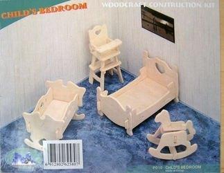 Сборная деревянная модель Детская спальня (П010) фотография 1