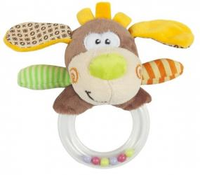 """Фото Мягкая игрушка-погремушка с колечком """"Пёсик Том"""" (939323)"""