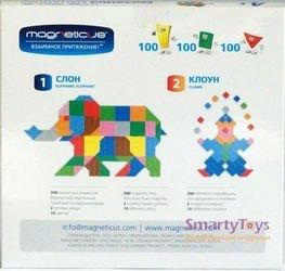 Мозаика магнитная Magneticus Слон/Клоун (300 элементов, 10 цветов) без поля фотография 2