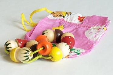 Бусы деревянные грибы в мешочке (Р-45/924) фотография 1