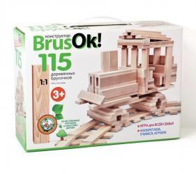 Фото Конструктор деревянный BrusOк! 115 элементов (02947)
