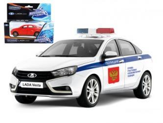 Фото Масштабная модель Лада Веста (Lada Vesta) Полиция 1:36 (68332)