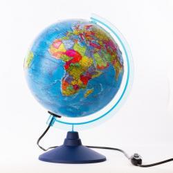 Фото Глобус политический рельефный с подсветкой 250 мм Классик Евро