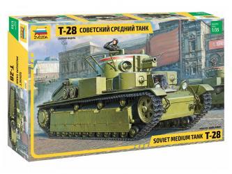 Сборная модель Советский средний танк Т-28 (3694) фотография 1