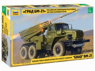 Сборная модель Российская самоходная реактивная система залпового огня Град (3655) фотография 1