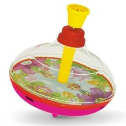 """Фото Детская игрушка Юла прозрачная диаметр 14 см """"Сказочная""""  (01335)"""