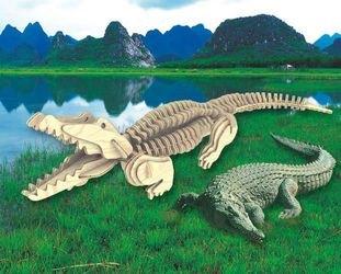 """Фото Сборная деревянная модель """"Крокодил"""" (М013)"""